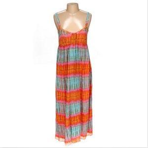 Ellavie 100% SILK maxi multicolor dress